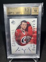 2005-06 UD SP Authentic Cam Ward Rookie Future Watch Auto RC /999 BGS 9.5