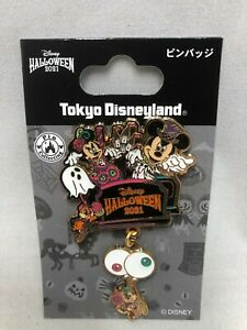 Tokyo Disney Resort Halloween 2021 Mickey Minnie Ghost Pin Badge Chip and Dale