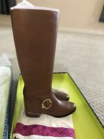NIB TORY BURCH Sofia Brown Leather Knee High Buckled Riding Boot Size 7M $498