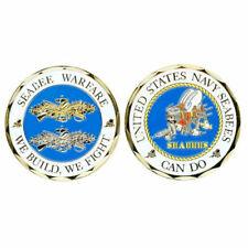 United States Seabee Warfare Challenge Coin
