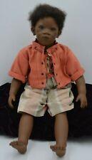 "Nwb Annette Himstedt African American Puppen Kinder ""Pemba"" w/ Coa 21"""