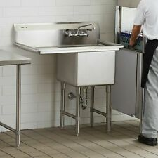 38 12 Stainless Steel Commercial Nsf Prep Sink With Left Drainboard