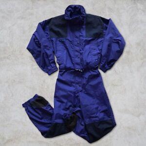 Vintage 90s Columbia Mens Snow Full Body Ski Suit Size M Retro Aqua Insulated
