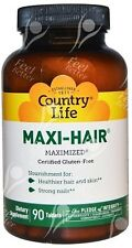 Country Life, Maxi-Hair, x90tabs;- with Biotin