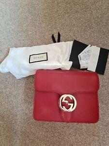 Gucci interlocking Red Handbad With Receipt