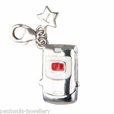 Tingle Mobile Phone Clip on Sterling Silver Charm with Gift Box and Bag SCH137