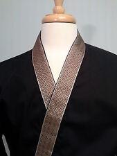 Happi coat, sushi coat, sushi chef coat, serving coat, Bronze on Black