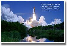 I have learned  Quote Space Shuttle Motivational POSTER