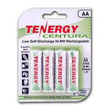 1 Card: 4 Tenergy Centura AA LSD NiMH Rechargeable Batteries