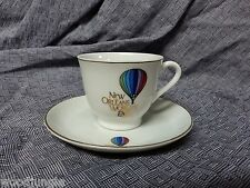 Vintage NEW ORLEANS WORLD'S FAIR 1984 DEMITASSE CUP and SAUCER COFFEE ESPRESSO