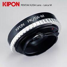 Kipon Adapter for Pentax DA PK/DA Lens to Rangefinder Liveview Leica M Camera