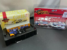 Matchbox Champion Truck & Dale Earnhardt Jr Pickup Truck w Trailer NASCAR Lot