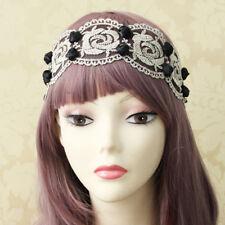 LK _ eg _ Moderno Flor de rosa encaje mujer elástica diadema pelo