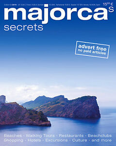 MAJORCA's SECRETS Travel Guide NEW Reisemagazin NEU / ENGLISCHE AUSGABE! 03/2016