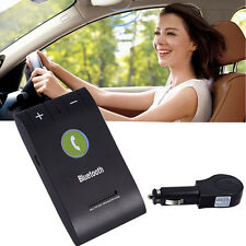 Wireless Bluetooth 4.0 Hands Free Car Kit Speakerphone Speaker Sun Visor Clip