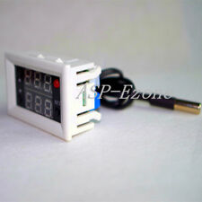 DC 12V Digital Temperature Controller Relay Thermometer Dual LED Red + Blue