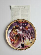 1995 Upper Deck Bradford Exchange Micheal Jordan 1991 Championship Plate, Bulls