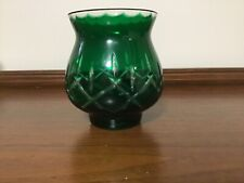 Lovely Green Votive/Tea Light Holder or Bud Vase with a Clear Cut Glass Top