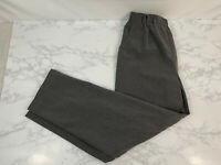 BRIGGS New York Petite Elastic Waist Pull-On Pants with Pockets Womens 4P Gray J