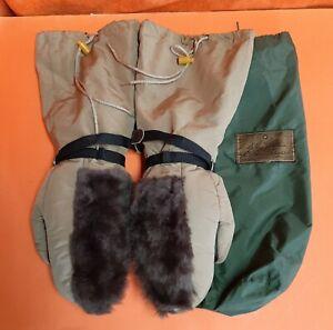 Vintage Eddie Bauer Expedition Mountaineering Goose Down Mittens Gloves Medium M