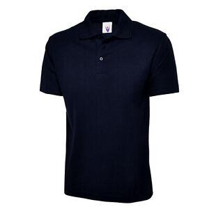 Mens Uneek Active Polo Shirt - Short Sleeve Pique Active Workwear Staff Uniform