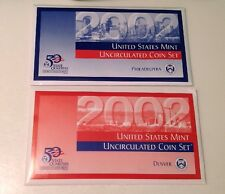 2002 US Mint Annual Uncirculated Coin Set, 20 Coins, P and D mint