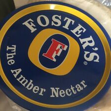2 X FOSTERS LAGER VINTAGE METAL TRAY.