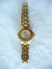 BULOVA DATED SWISS MARINE STAR LADIES CASUAL WATCH GOLD TONE *FREE SHIPPING*