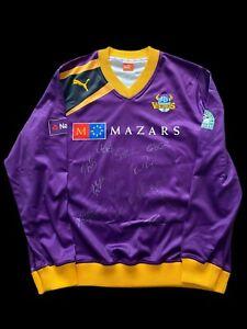 Ryan Sidebottom Match Worn Signed 2014 Yorkshire Vikings L/S Cricket Shirt