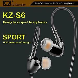 High-End Kopfhörer KZ-S6 Schwarz Pro Sports In-Ear Headphones in PU Hardcase