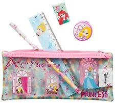 Disney Princesa Niñas de regreso a la escuela llena Estuche Regla Lápiz De Goma