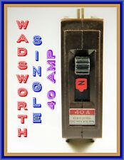 WADSWORTH CIRCUIT BREAKER, SINGLE, 40AMP, NEW / ORIGINAL, OLD-INVENTORY