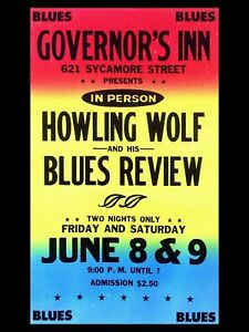 "HOWLING WOLF 16"" x 12"" Reproduction Concert Poster Photo"