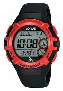 Lorus Novak Djokovic Foundation Red and Black Rubber Strap Men's Watch R2389LX9