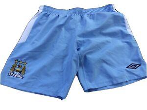 MANCHESTER CITY Men's L soccer football shorts MCFC EPL 2011/12 Aguerooooooooooo