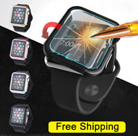 Apple Watch Series 3/2/1 38/42mm Snap On Bumper TPU Case Cover+Screen Protector