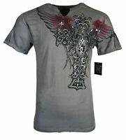 Xtreme Couture by Affliction Short Sleeve T-Shirt Mens NEXUS Gray