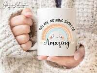 You Are Nothing Short Of Amazing Cute Pastel Rainbow Quote Mug Coffee Mug Gift