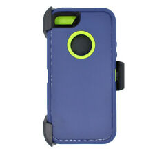 For iPhone 5,5s,SE Defender Case cover w/clip fit otterbox & Screen Navy Green