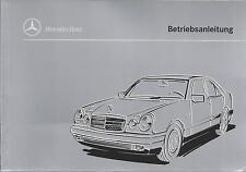 MERCEDES E-Klasse W 210 Betriebsanleitung 1995 Bedienungsanleitung Handbuch  BA