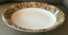 1 Oval Vegetable Serving Bowl Royal Doulton Everyday Cinnabar Mosaic Tan TC1217