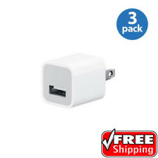 3 PACK OEM Apple Original Wall Charger iPod iPhone A1385 USB Power Brick MD810LL