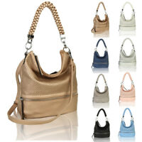 Women's Braided Fashion Leather Tote Hobo Shopper Handbag Crossbody Shoulder Bag