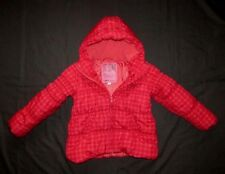 GIRLS NEXT RED WINTER COAT. AGE 7-8 YEARS. THICK PADDED WARM PUFFA JACKET.