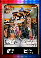 (Digital Card) Topps WWE Slam Alexa Bliss Ronda Rousey Sig.  Orange Award 17cc