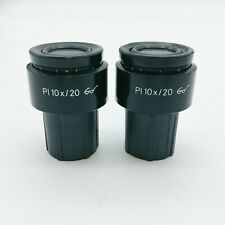 Zeiss Microscope Eyepiece Pl 10x/20 Pair of Eyepieces 444032 with Reticle