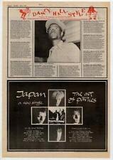 Japan David Sylvian UK Tour advert 1981