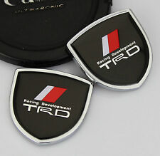 2pcs Shield Auto Car body Left Right Emblems Sticker Decal Badge fit for TRD