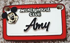 Pre-Owned Vintage 1970s Mickey Mouse Club Mini Plastic Name License Plate - Amy