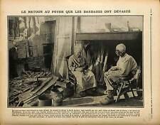 Ruines Ferme Cheminée Sabots  Village de Passel Noyon Oise France 1917 WWI